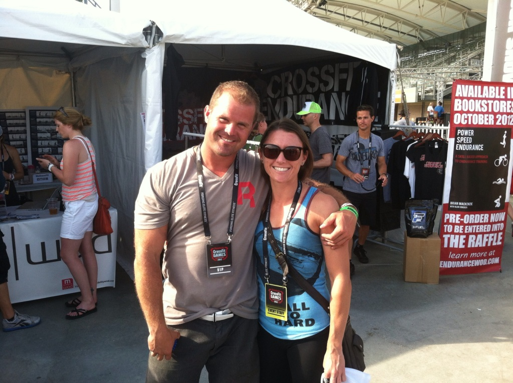 Quick photo with one of my favorite mentors while working the 2012 CrossFit Games with Rock Tape!